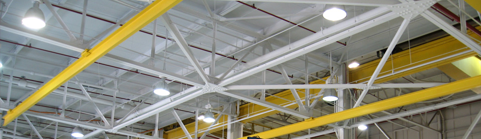We are capable of safely cleaning and recoating the highest rafters and ceilings
